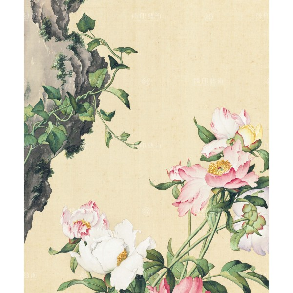 Paeonia lactiflora, Giuseppe Castiglione, Qing Dynasty, Immortal Blossoms in an Everlasting Spring, Giclée
