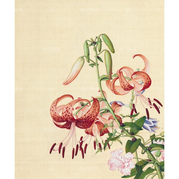 Lily & Peony, Giuseppe Castiglione, Qing Dynasty, Immortal Blossoms in an Everlasting Spring, Giclée