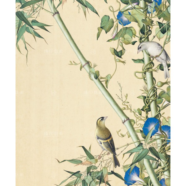 Bamboo and Morning Glory, Giuseppe Castiglione, Qing Dynasty, Immortal Blossoms in an Everlasting Spring, Giclée