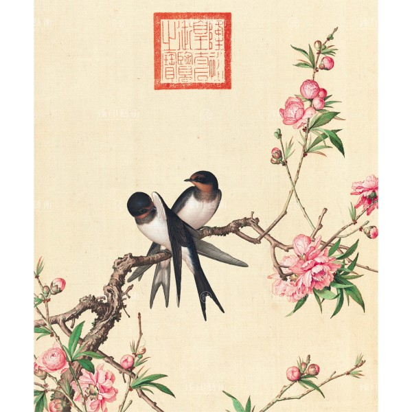 Peach Blossom, Giuseppe Castiglione, Qing Dynasty, Immortal Blossoms in an Everlasting Spring, Giclée