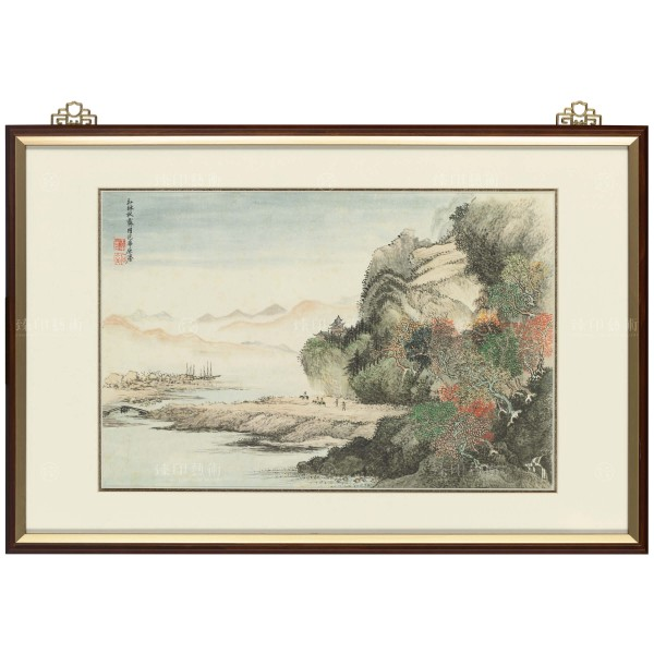 Flowers and Landscape Collection, Volume, An imitation of Fan Kuan's painting style, Hui Shou Ping, Wang Hui, Qing Dynasty, Frame (Domestic Delivery Only)