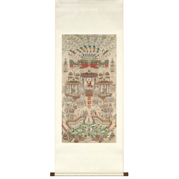 Paradise, Ding Guanpeng, Qing Dynasty, Scroll (M)
