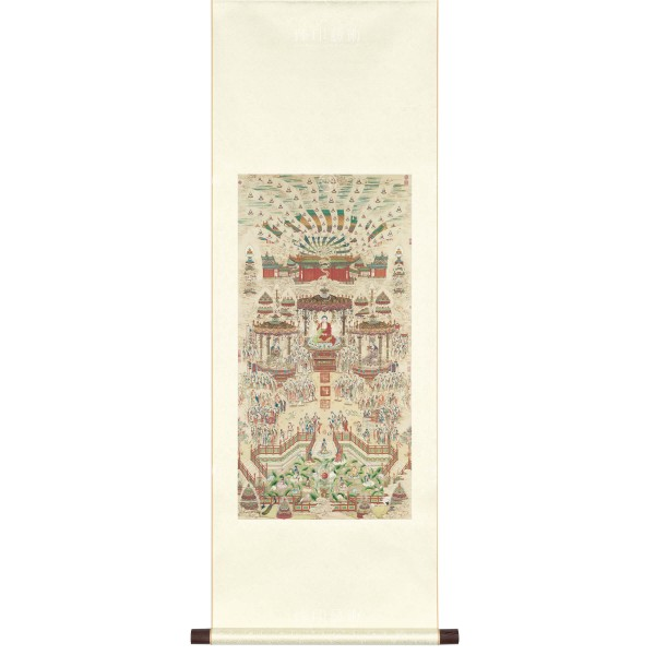 Paradise, Ding Guanpeng, Qing Dynasty, Scroll (S)
