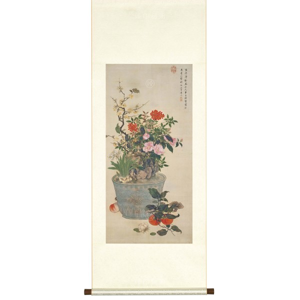 Painting for the New Year, Chen Shu,  Qing Dynasty, Scroll
