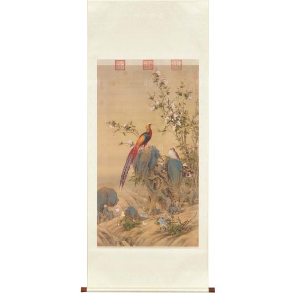 A Brocade of Spring, Giuseppe Castiglione, Qing Dynasty, Scroll (L)