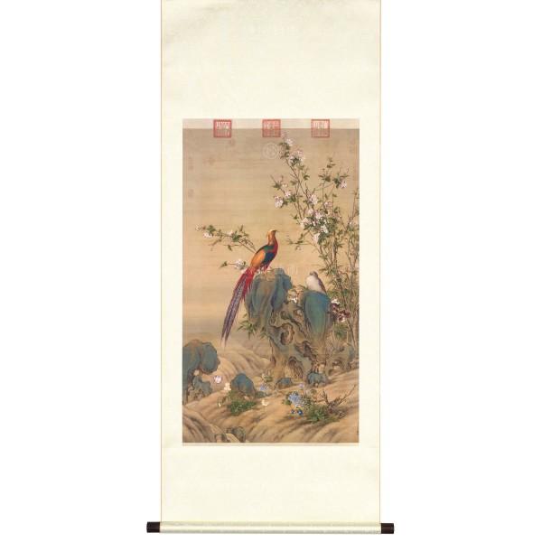 A Brocade of Spring, Giuseppe Castiglione, Qing Dynasty, Scroll (M)