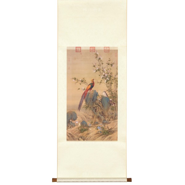 A Brocade of Spring, Giuseppe Castiglione, Qing Dynasty, Scroll (S)