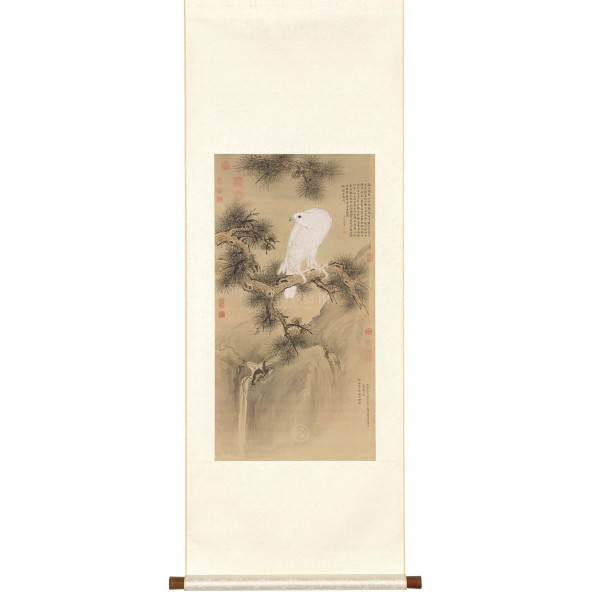 White Falcon, Giuseppe Castiglione, Qing Dynasty, Scroll (S)