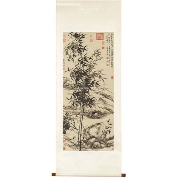 Bamboo and orchids, Yuanji, Wang Yuanqi, Qing dynasty, Scroll