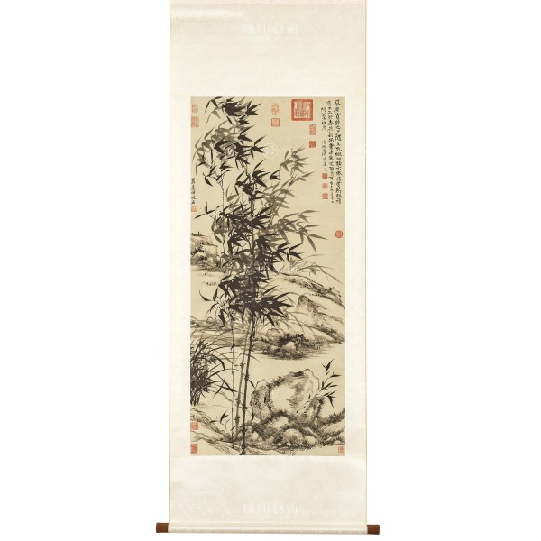Bamboo and orchids, Yuanji, Wang Yuanqi, Qing dynasty, Scroll (S)