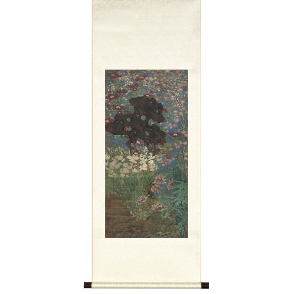 Picture of the New Year, Zhao Chang, Song Dynasty, Scroll