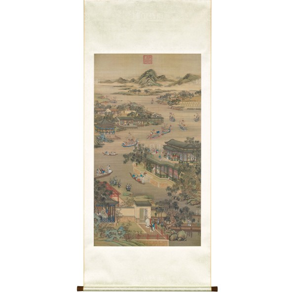 Activities of the Twelve Months (The Fifth Lunar Month), Court artists, Qing Dynasty, Scroll (L)