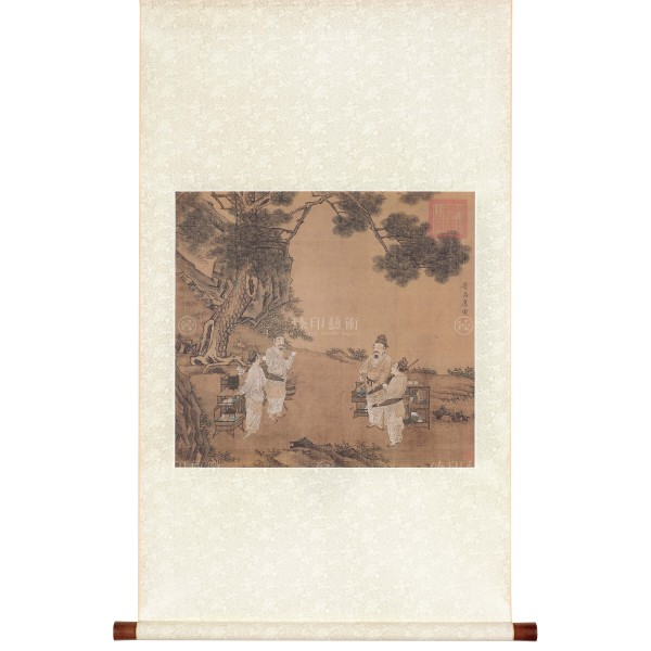 A Painting of Tea Fighting, Tang Yin, Ming Dynasty, Scroll