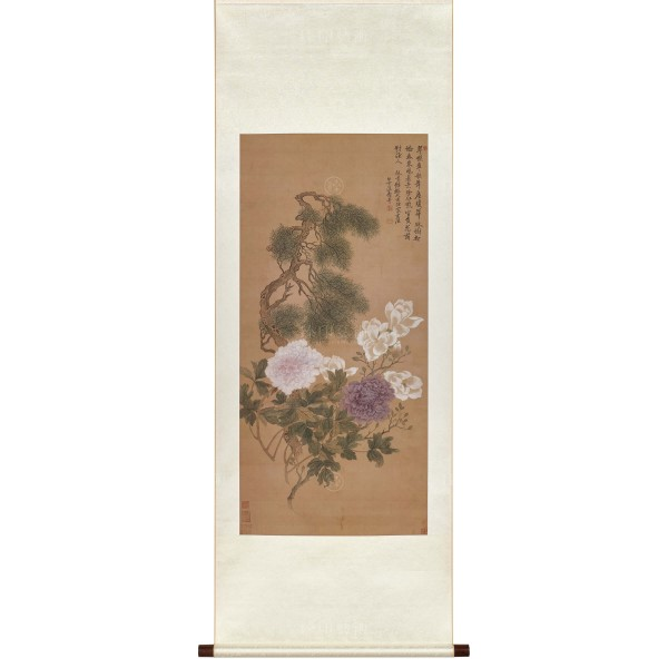 Flowers and Plants, Yun Shou-ping, Qing Dynasty, Scroll (S)
