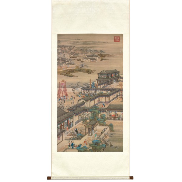 Activities of the Twelve Months (The First Lunar Month), Court artists, Qing Dynasty, Scroll (L)