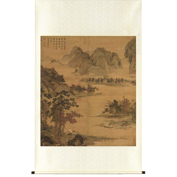 Waiting for a Ferry in Autumn, Qiu Ying, Ming Dynasty, Scroll