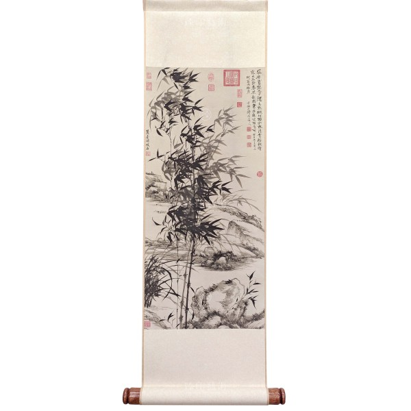 Bamboo and orchids, Yuanji, Wang Yuanqi, Qing Dynasty, Mini Scroll (M)