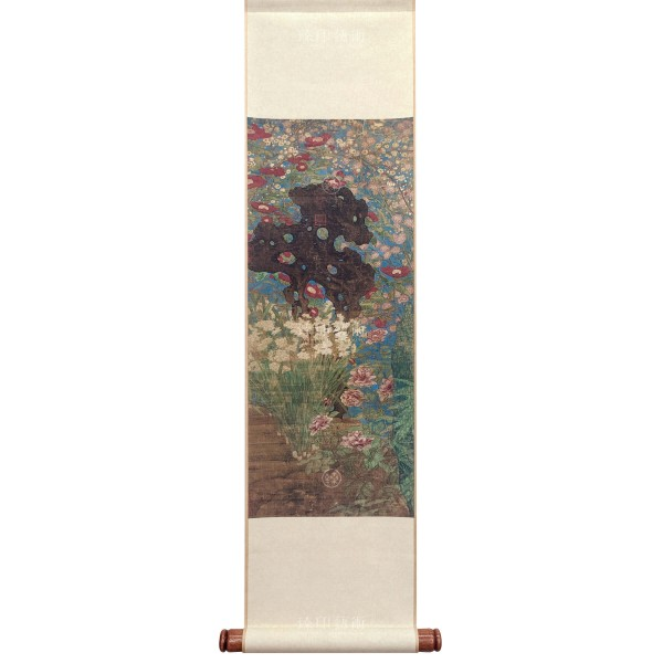 Picture of the New Year, Zhao Chang, Song Dynasty, Mini Scroll (L)