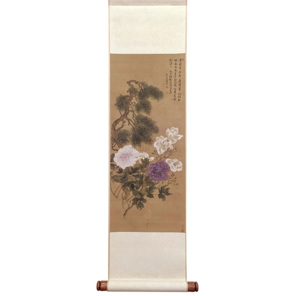 Flowers and Plants, Yun Shou-ping, Qing Dynasty, Mini Scroll (L)