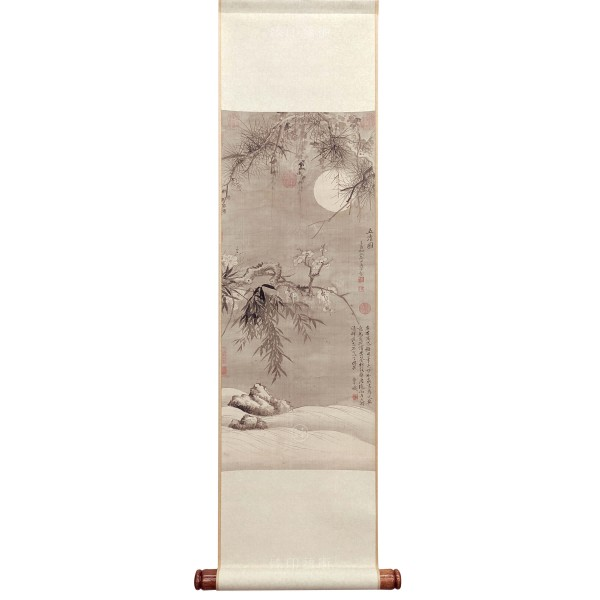 The Five Purities, Yun Shou-ping, Qing Dynasty, Mini Scroll (L)