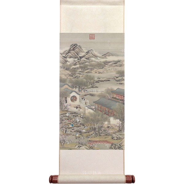 Activities of the Twelve Months (The Third Lunar Month), Court artists, Qing Dynasty, Mini Scroll (M)