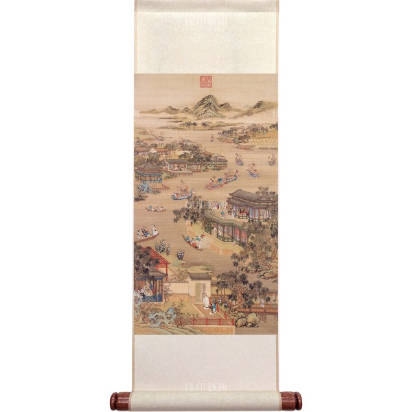 Activities of the Twelve Months (The Fifth Lunar Month), Court artists, Qing Dynasty, Mini Scroll (M)