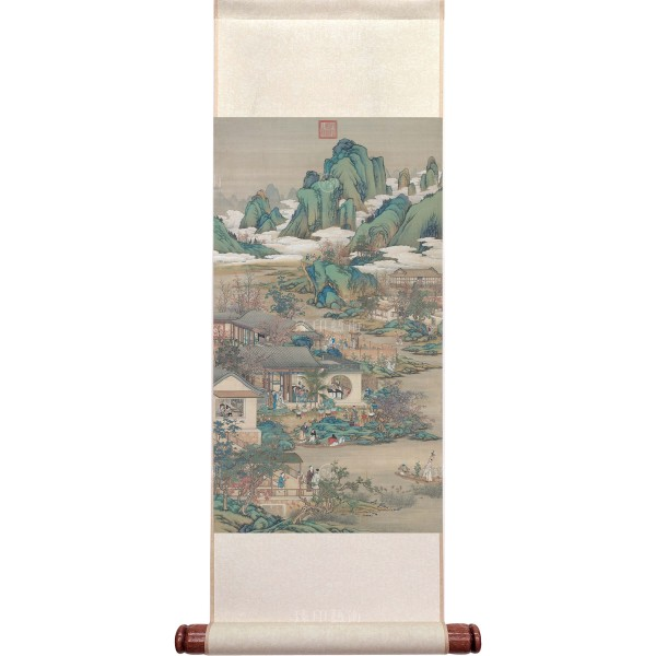 Activities of the Twelve Months (The Ninth Lunar Month), Court artists, Qing Dynasty, Mini Scroll (M)