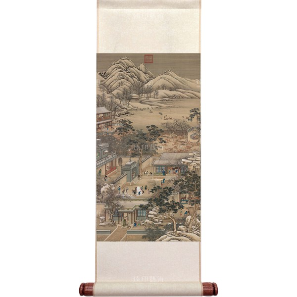 Activities of the Twelve Months (The Twelfth Lunar Month), Court artists, Qing Dynasty, Mini Scroll (M)