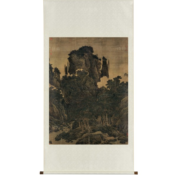 Wind in Pines Among a Myriad Valleys, Li Tang, Song Dynasty, Scroll (Original size)