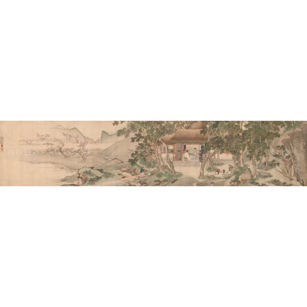 The Tung-lin(Eastern Grove) Garden, Qiu Ying, Ming Dynasty, Giclée