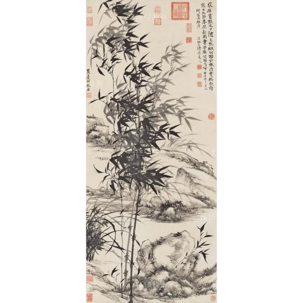 Bamboo and orchids, Yuanji, Wang Yuanqi, Qing Dynasty, Giclée (S)