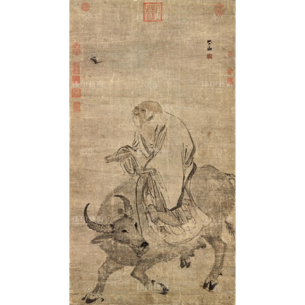 Lao-tzu Riding an Ox, Chang Lu, Ming Dynasty, Giclée