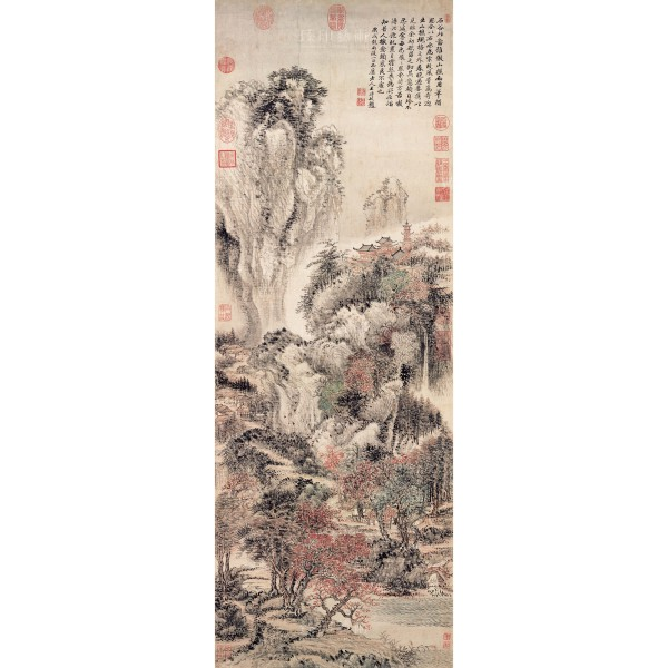 Mountains, Streams and Autumn-tinted Trees, Wang Hui, Qing Dynasty, Giclée