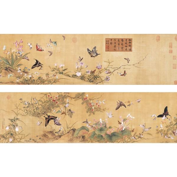 Myriad Butterflies,Yu Xing, Qing Dynasty, Giclée
