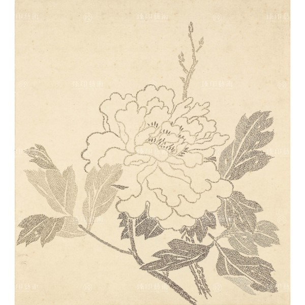 Album Leaves of Flowers Painted with Longevity Characters, Peony, Xia Zonglu, Qing Dynasty, Giclée
