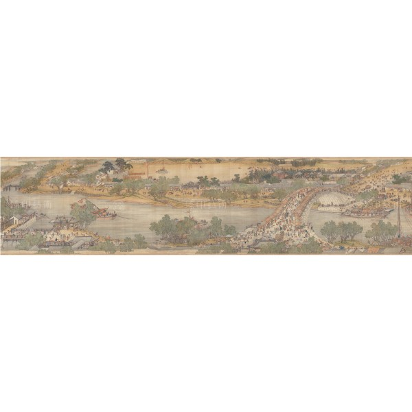 Up the River During Qingming, Qing Court painters, Qing Dynasty, Giclée (Partial size)150N