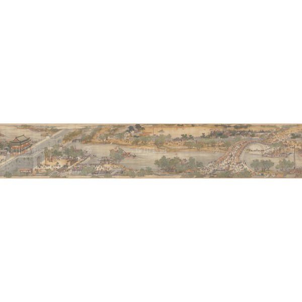 Up the River During Qingming, Qing Court painters, Qing Dynasty, Giclée (Partial size)200N