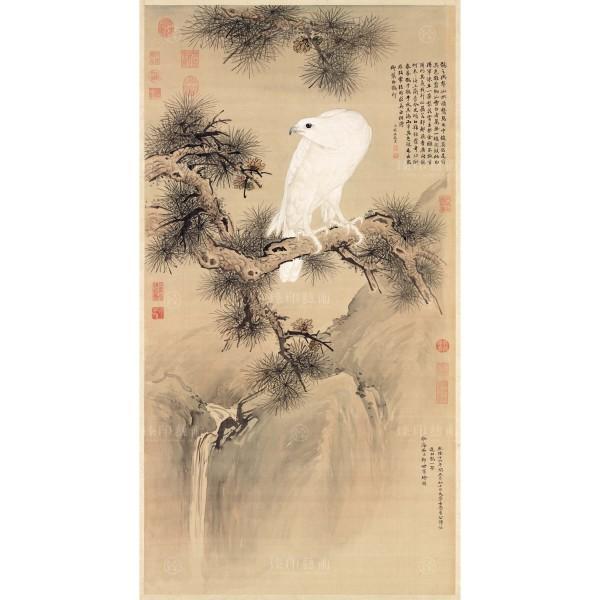 White Falcon, Giuseppe Castiglione, Qing Dynasty, Giclée (Original size)