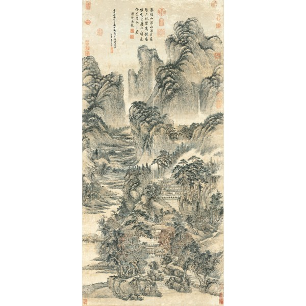 Reading in Mt. Kuang-lu, Wang Hui, Qing Dynasty, Giclée