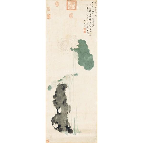 Auspicious Lotus, Li Shida, Ming Dynasty, Giclée