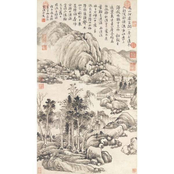 Landscape, Yun Shou-ping, Qing Dynasty, Giclée