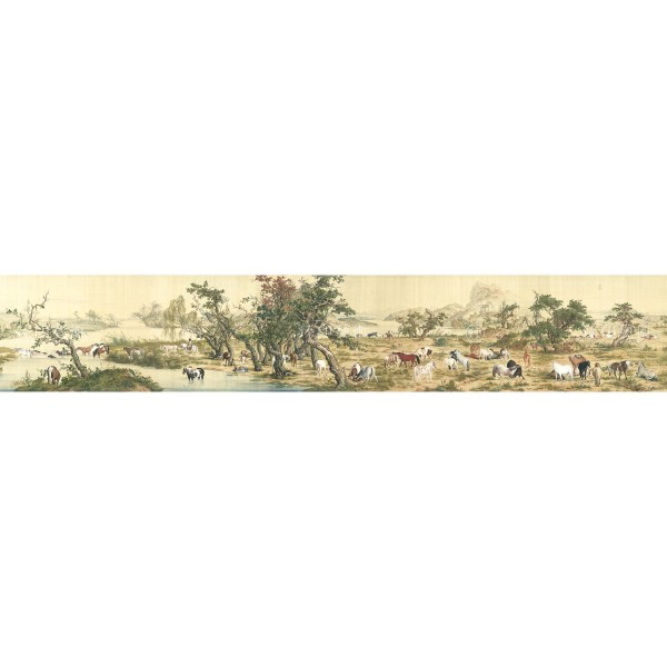 One Hundred Horses, Giuseppe Castiglione, Qing Dynasty, Giclée (Partial size)200N