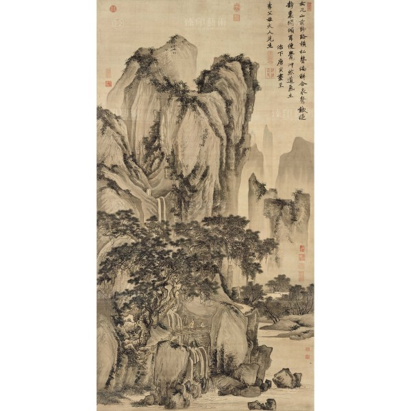 Sound of Pines on a Mountain Path, Tang Yin, Ming Dynasty, Giclée (L)