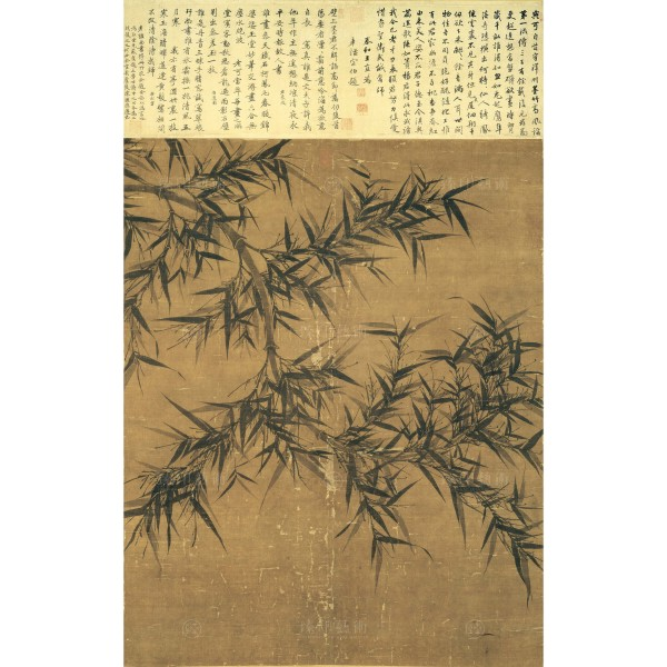 Bamboo in Monochrome Ink , Wen Tong, Song Dynasty, Giclée