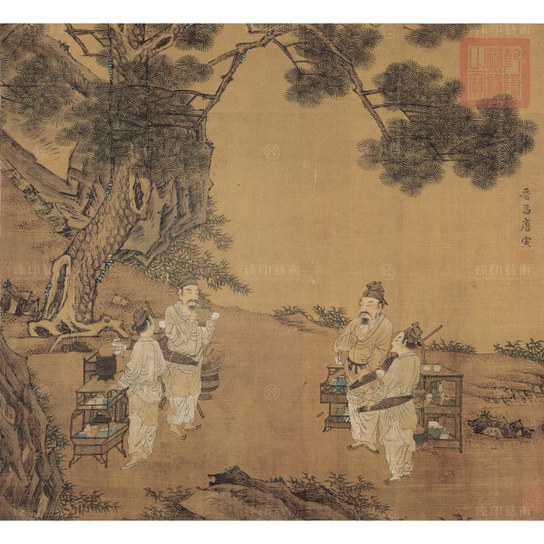 A Painting of Tea Fighting, Tang Yin, Ming Dynasty, Giclée