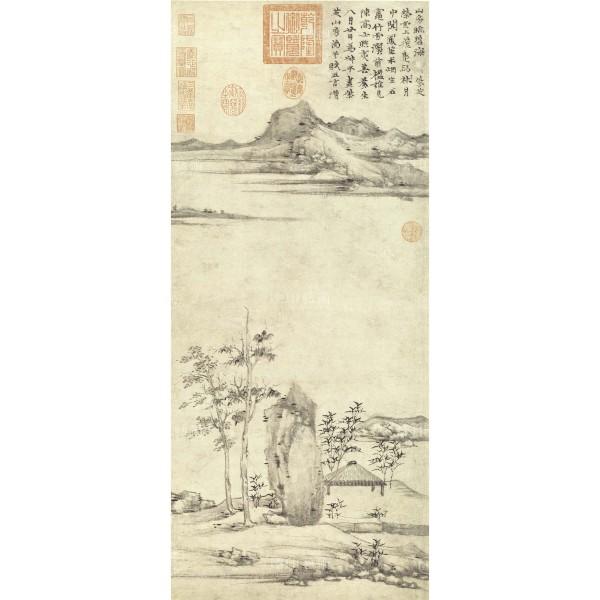 Tzu-chih Mountain Studio, Ni Zan, Yuan Dynasty, Giclée