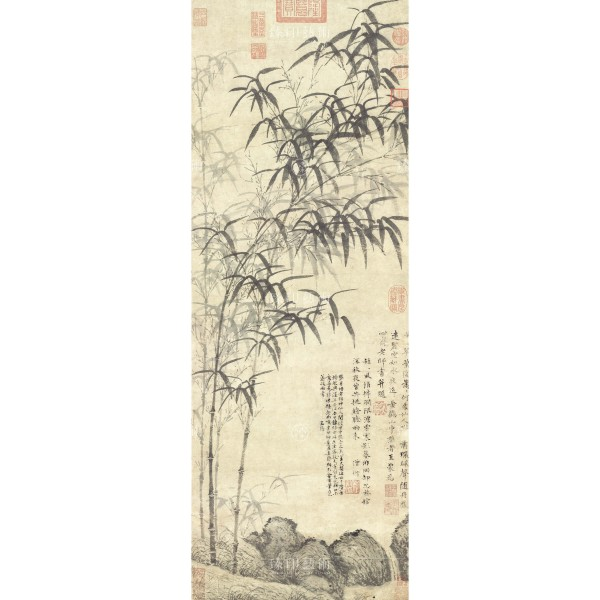 A painting of the Bamboo Creek,Wang Meng, Yuan Dynasty, Giclée