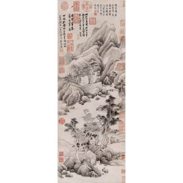 Discussing Antiquity by the Ching River, Tung Chi-chang, Ming dynasty, Giclée