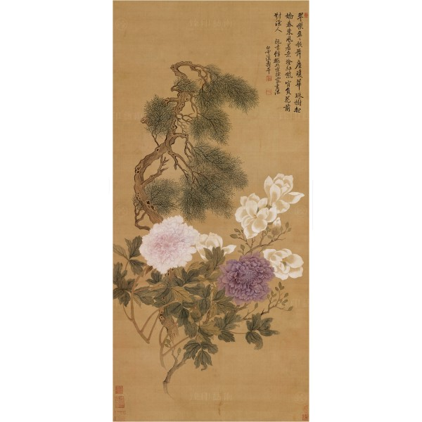 Flowers and Plants, Yun Shou-ping, Qing Dynasty, Giclée (L)