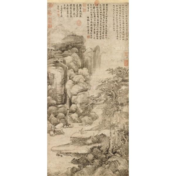 Landscape, Ni Tsan, Wang Meng, Yuan Dynasty, Giclée